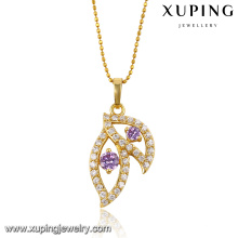 30519 xuping 2018 hot sale jewelry elegant style leaf shape fashion pendant